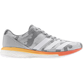 adidas Adizero Boston 8 Low-Cut Schuhe Damen grey two/footwear white/hi-res coral